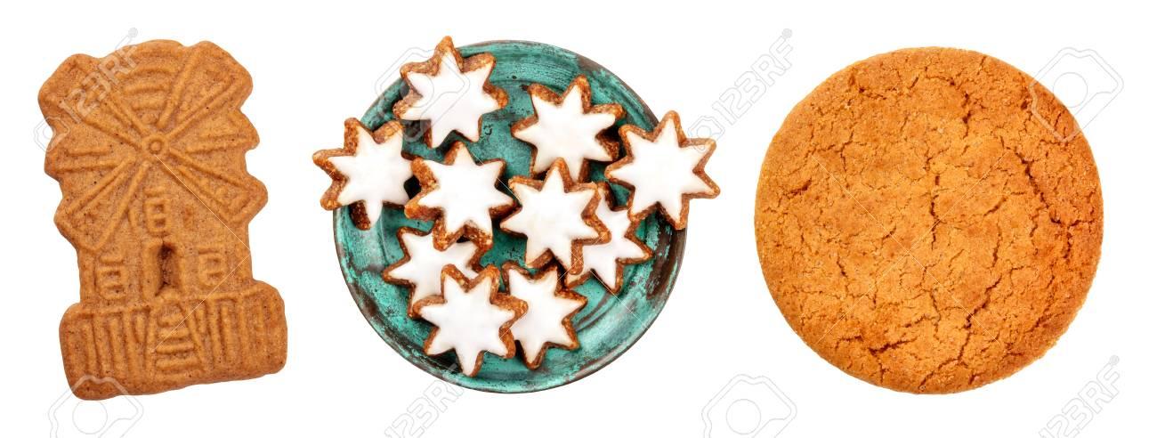 A Set Of Isolated Christmas Biscuits Scandinavian Spekulatius