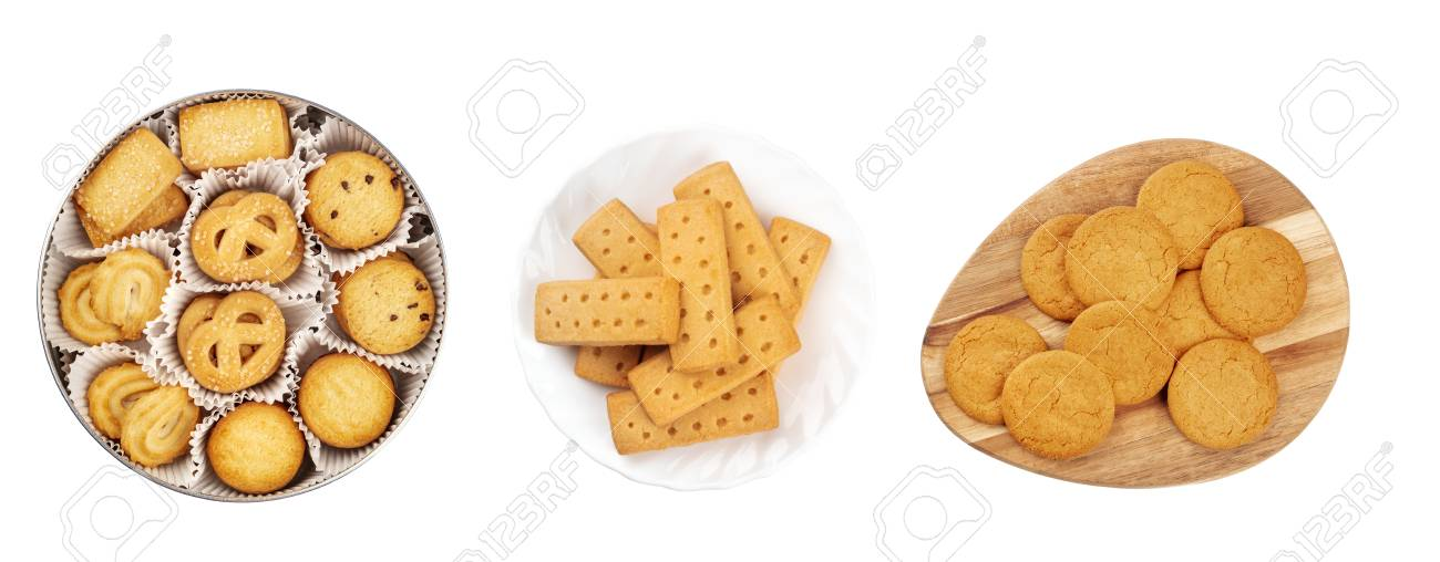 A Set Of Isolated Christmas Biscuits Danish Butter Cookies