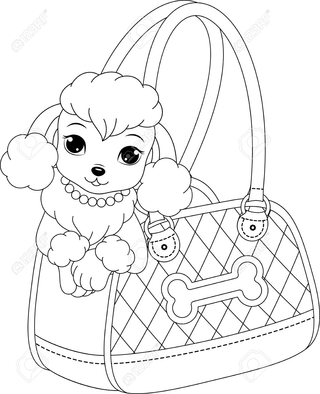 poodle animal coloring pages. poodle coloring page Stock Vector  61383225 Poodle Coloring Page Royalty Free Cliparts Vectors And