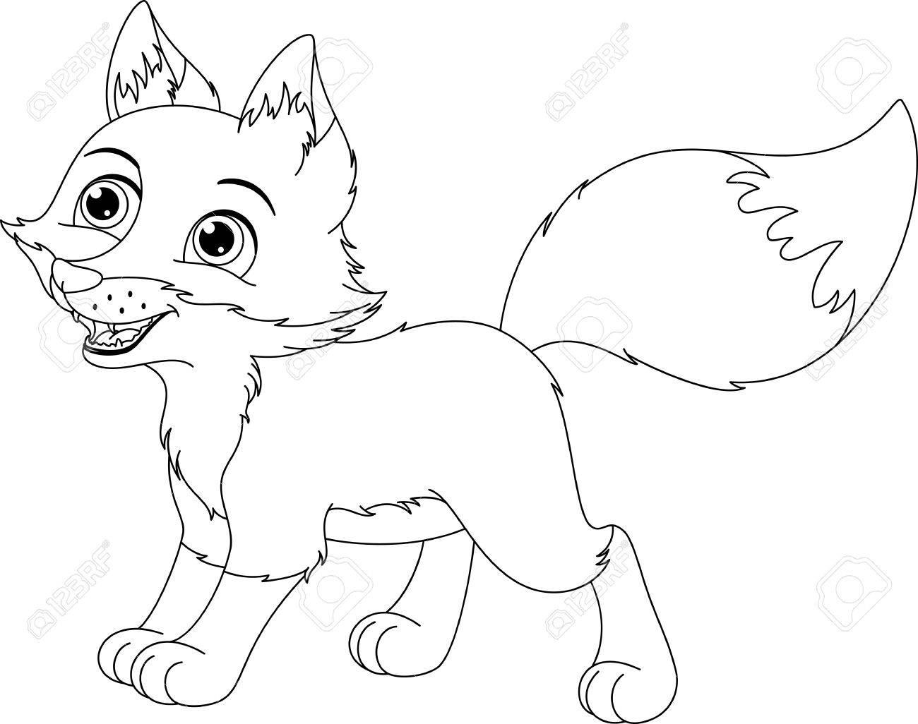 Excelente Fox Para Colorear Ornamento - Dibujos Para Colorear En ...