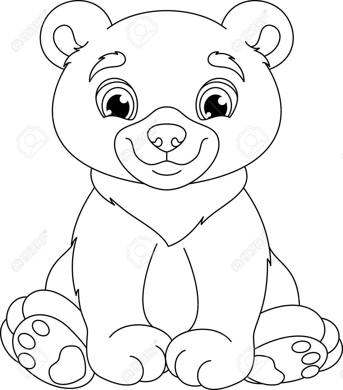 Teddy Bear Para Colorear La Página