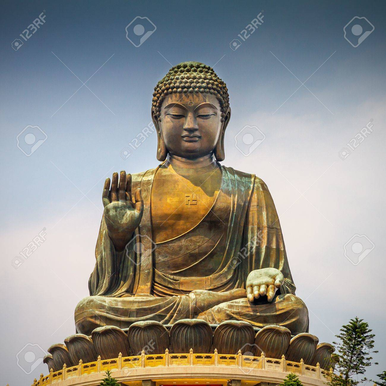 Giant Buddha Statue In Tian Tan Hong Kong China Stock Photo Picture And Royalty Free Image Image 22173861