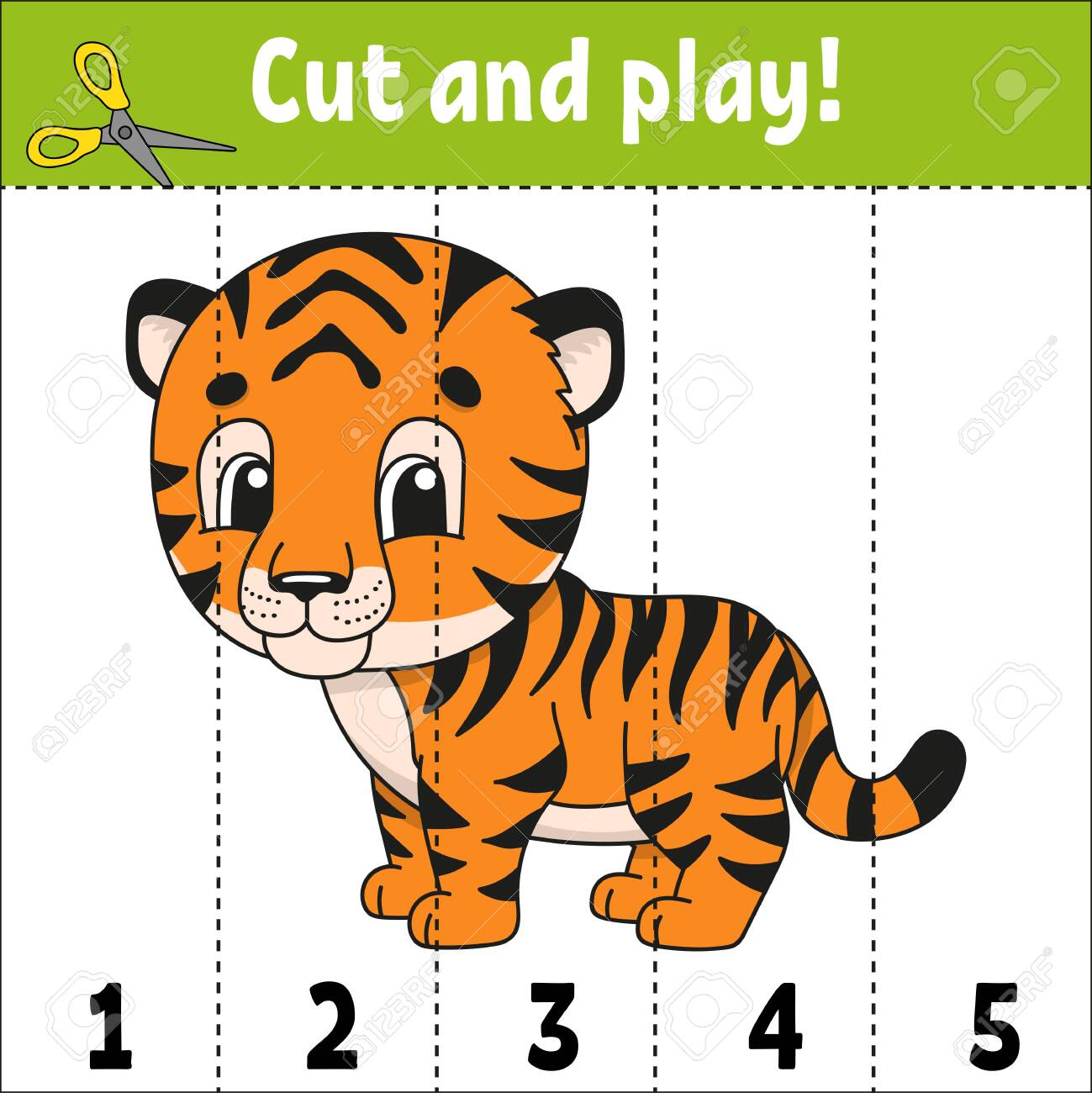Learning numbers. Education developing worksheet. Game for kids. Activity page. Puzzle for children. Riddle for preschool. Simple flat isolated vector illustration in cute cartoon style - 119921786
