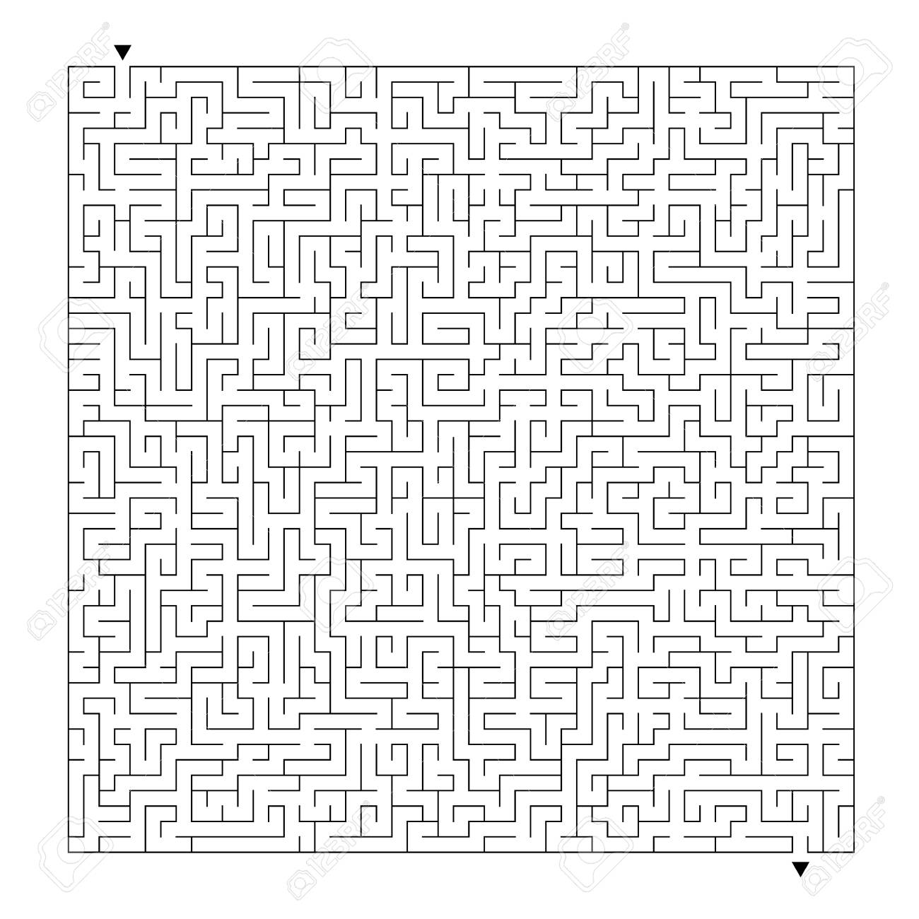 Abstract labyrinth. Game for kids. Puzzle for children. Maze conundrum. Vector illustration - 124821072