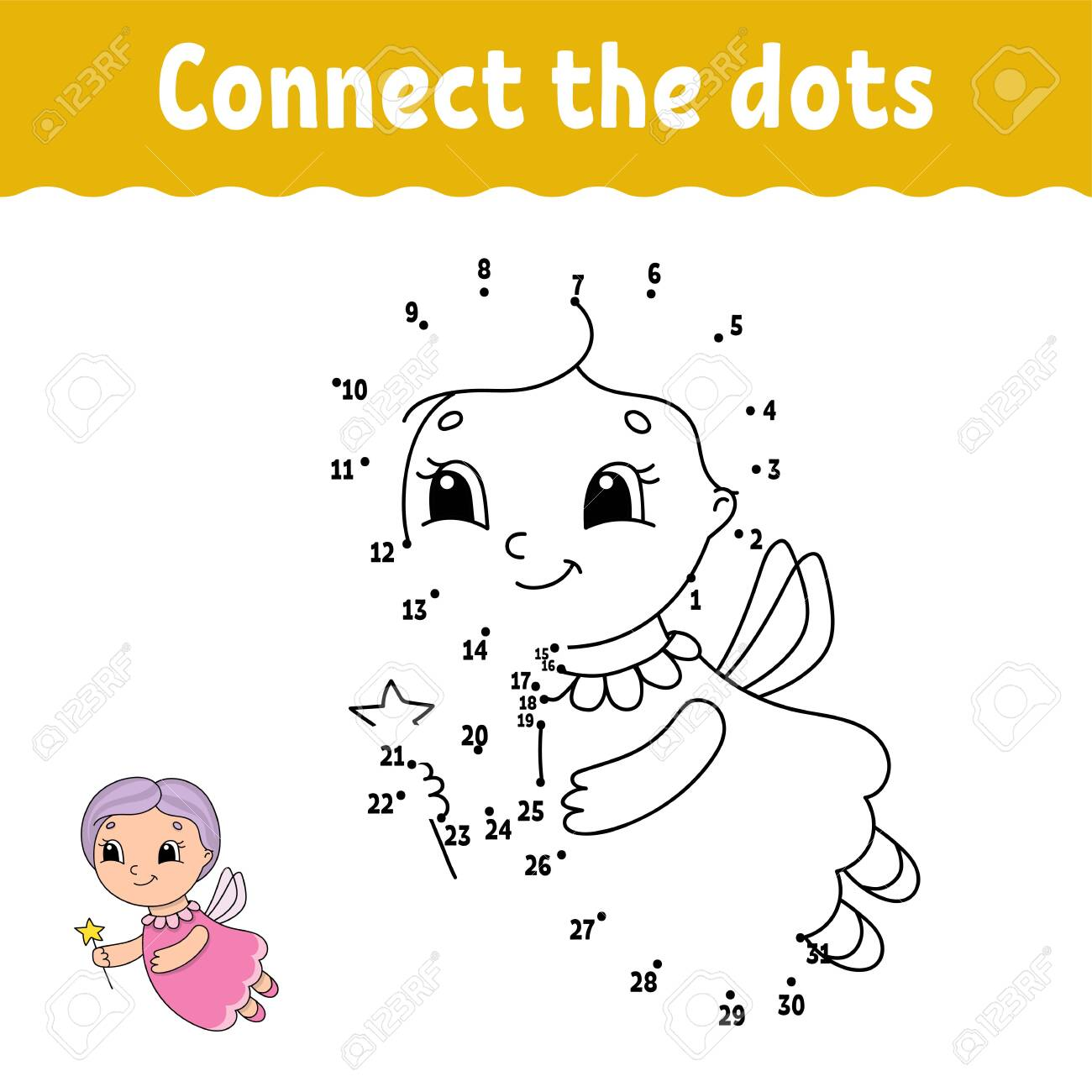 Dot To Dot Draw A Line Handwriting Practice Learning Numbers Royalty Free Cliparts Vectors And Stock Illustration Image 124141016