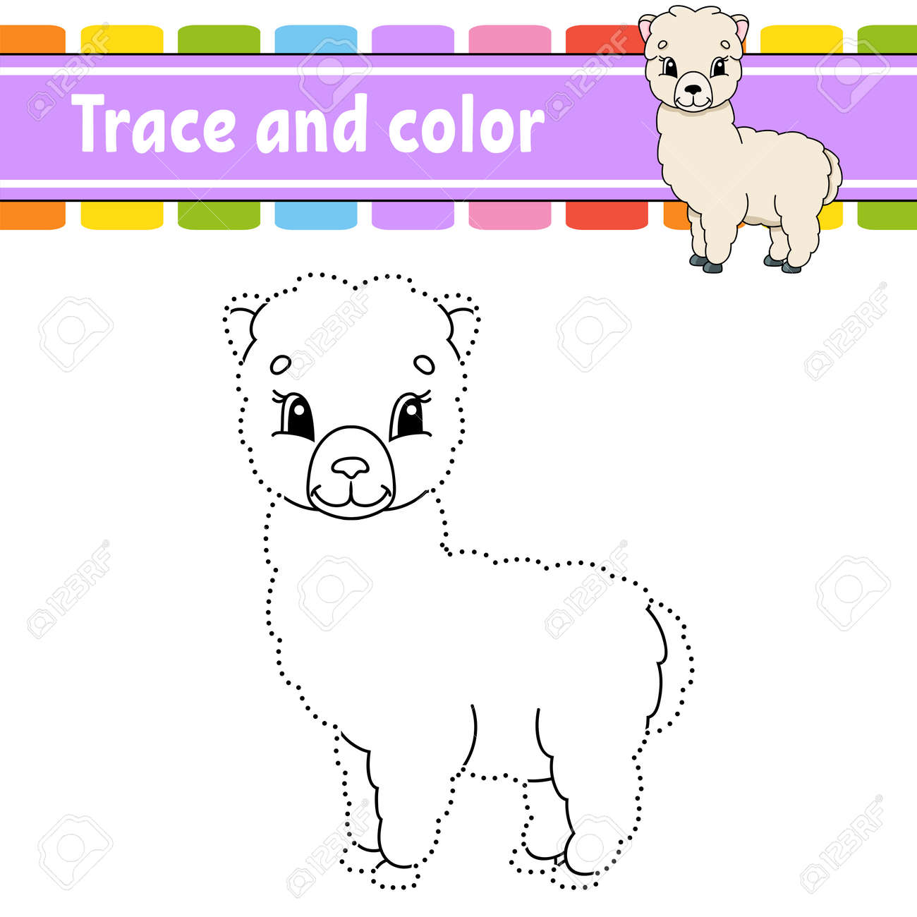 Dot to dot Dot to dot game. Draw a line. For kids. Activity worksheet. Coloring book. With answer. Cartoon character. Vector illustration. - 169599828