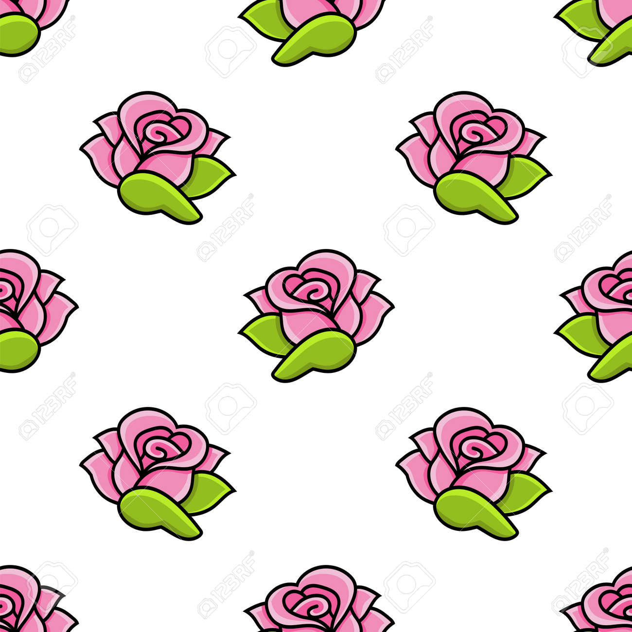 Colored seamless pattern. Cartoon style. Hand drawn. Vector illustration isolated on white background. For walpaper, poster, banner. - 169599912