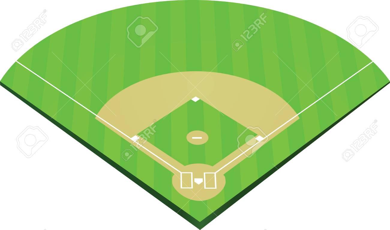 baseball field vector illustration royalty free cliparts vectors rh 123rf com  baseball field vector clipart