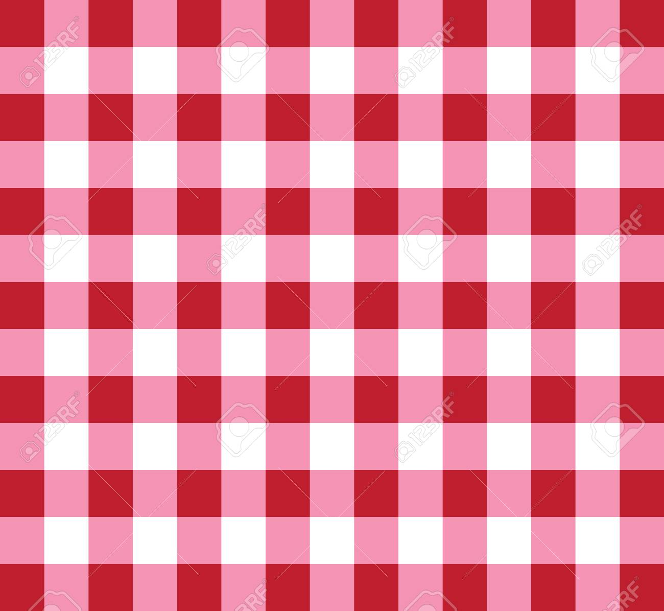 Picnic Checkered Tablecloth Pattern Red And White Stock Vector   85528238