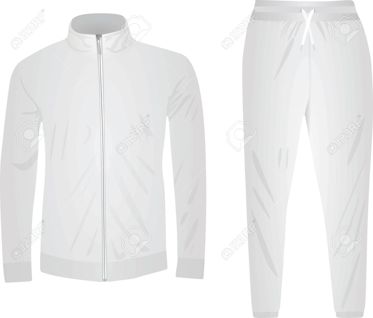 cedc35810679 White tracksuit. vector illustration Stock Vector - 95158907