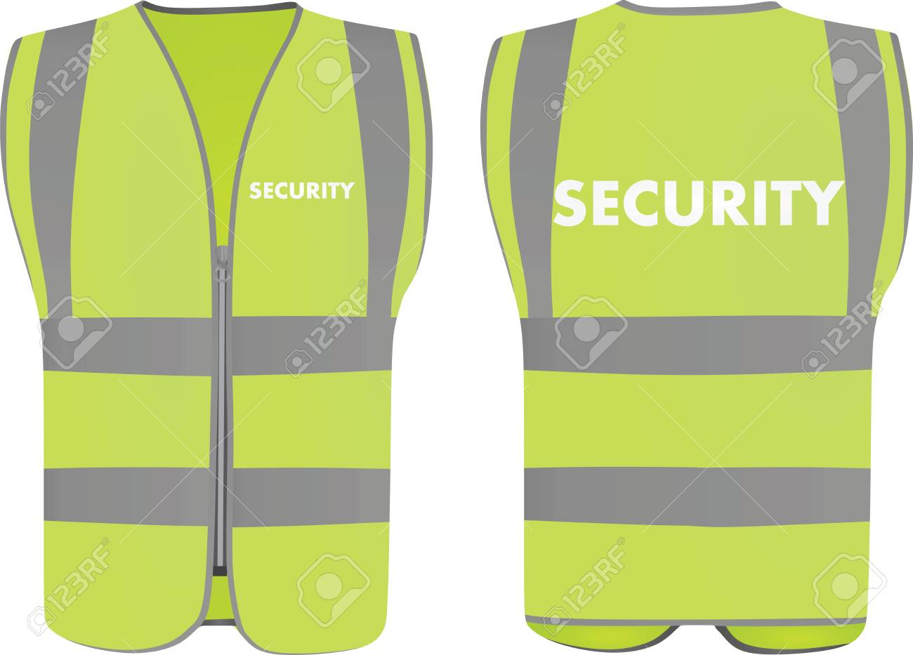 Security safety vest Stock Vector - 95150646 b08ebaacdc9