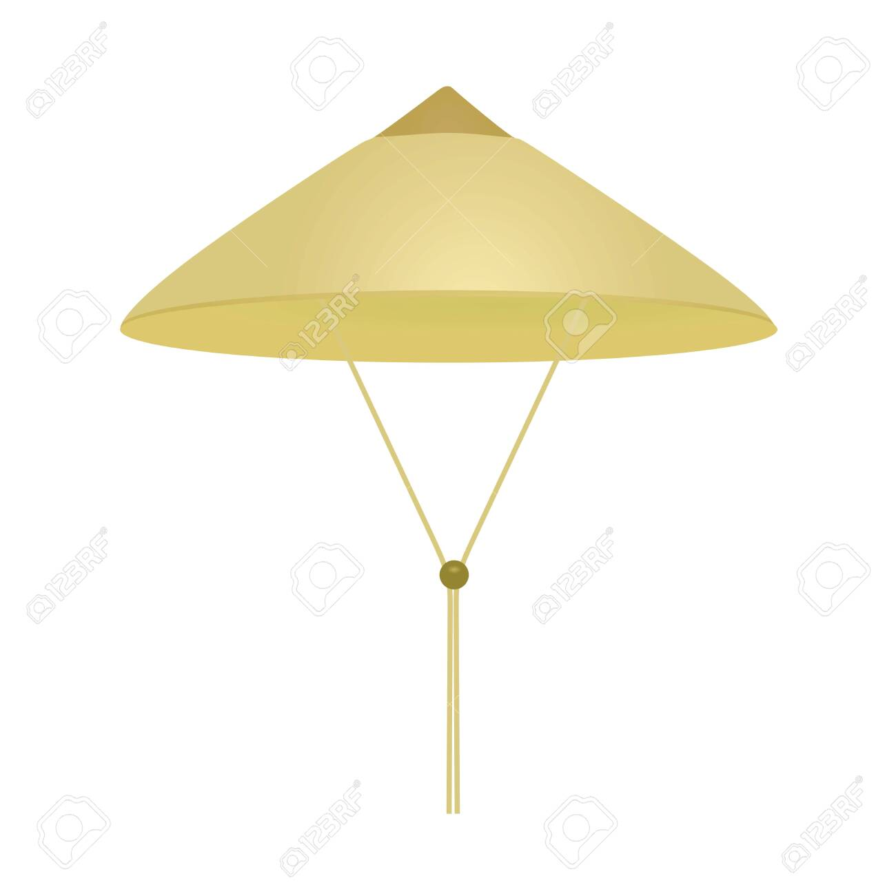 Beige vietnamese hat. vector illustration - 139627778