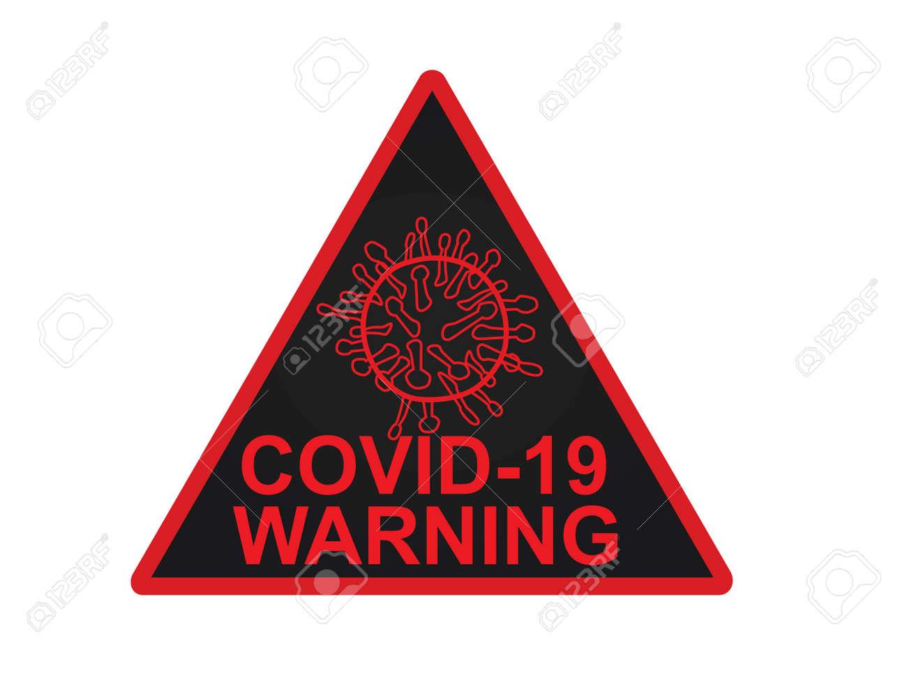 Coronavirus. COVID19 warning sign. vector - 163729702