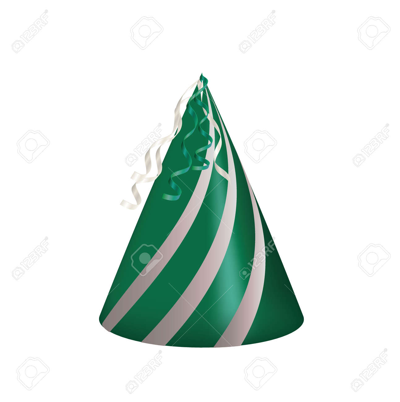 Green party hat. vector illustration - 162082692
