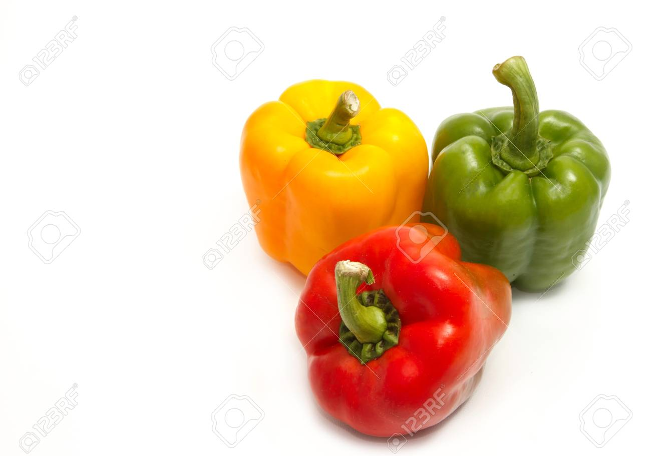 colorful  paprika on white backgroud Stock Photo - 15158973