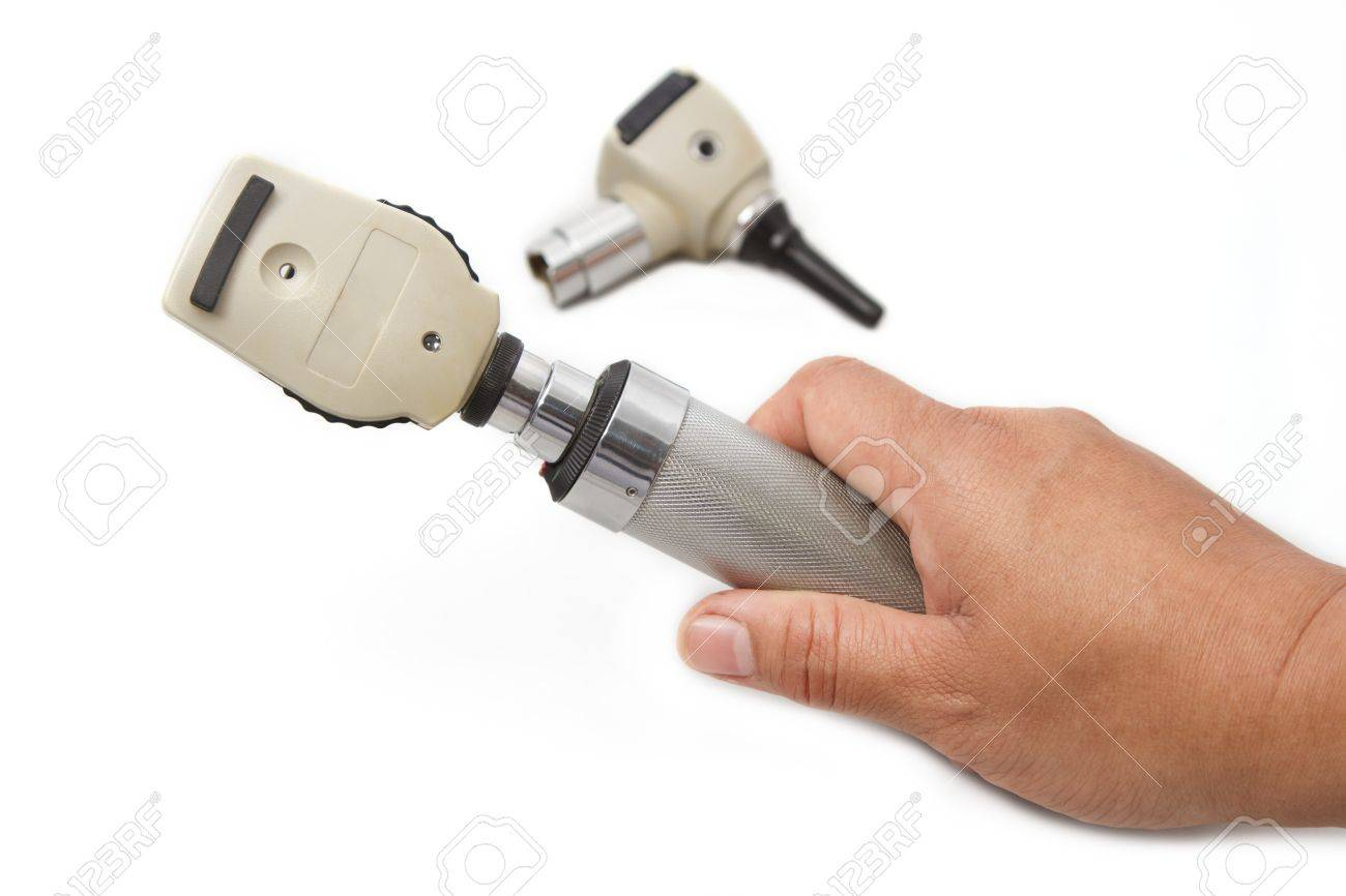 Otoscope and Opthalmoscope for ear eye examination , medical