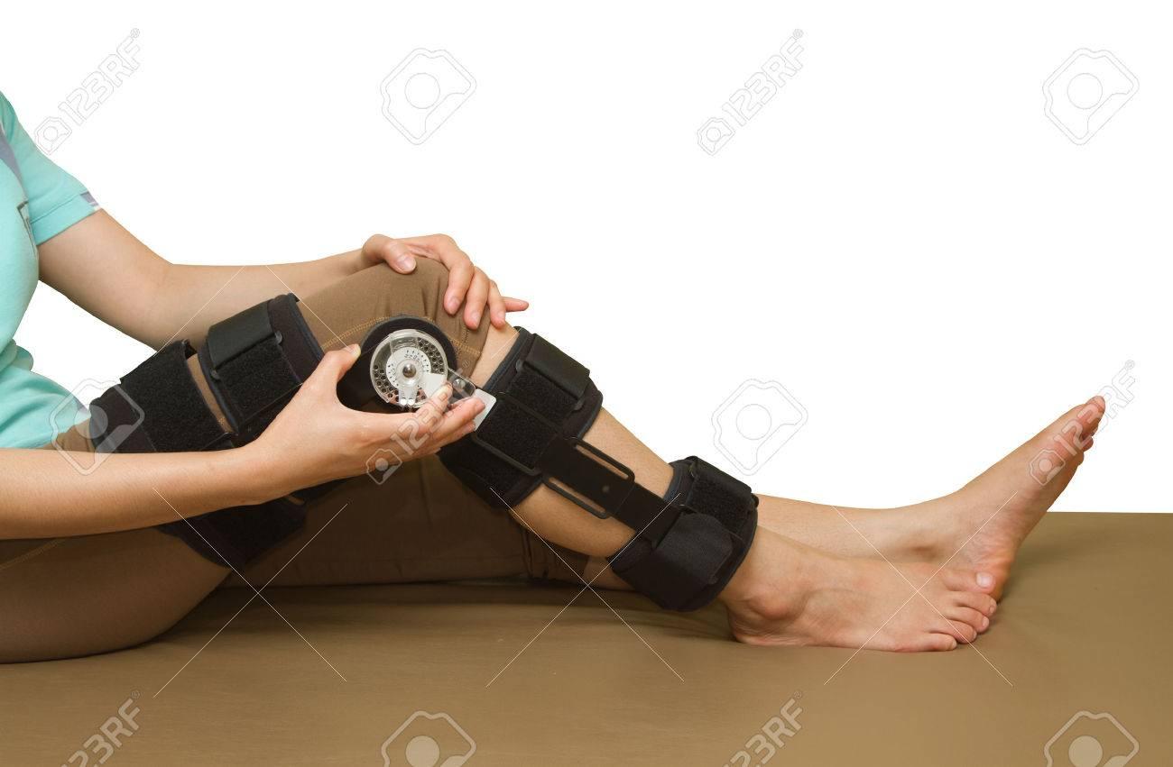 verstellbarer winkel knieorthese unterstützung für bein oder knie