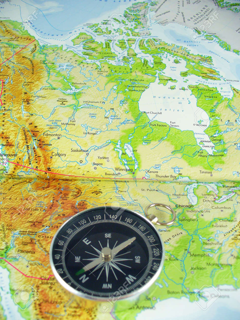 Picture of: Compass On Map Of Usa Stock Photo Picture And Royalty Free Image Image 1216962