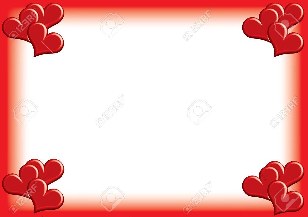 valentine photoframe with small hearts Stock Photo - 17380799