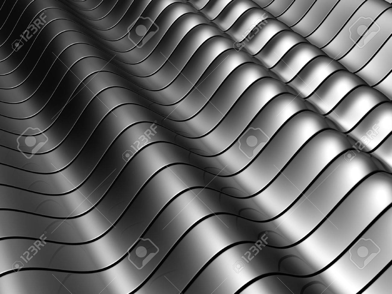 Abstract silver aluminum tube  background with reflection 3d illustration Stock Photo - 5371027