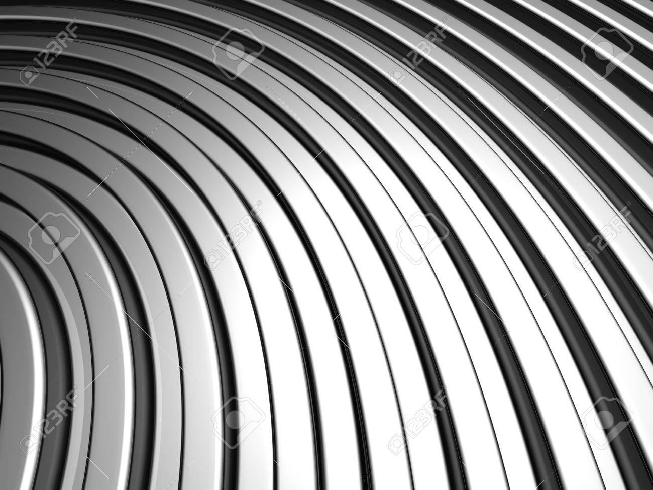 Curve shape silver aluminium stripe background 3d illustration Stock Photo - 7365558