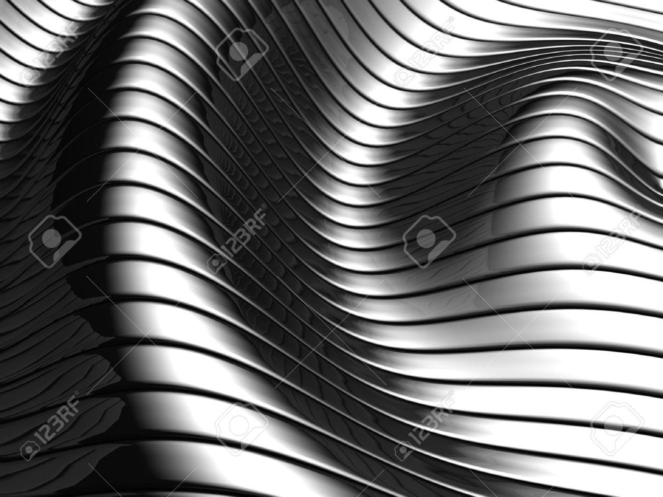 Aluminum abstract silver wave pattern background 3d illustration Stock Illustration - 7784519