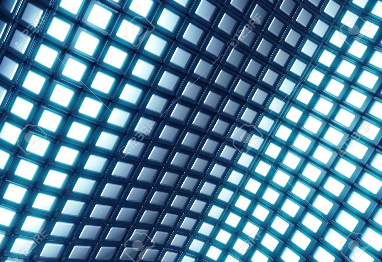 Abstract shiny blue square pattern 3d illustration Stock Illustration - 7784527