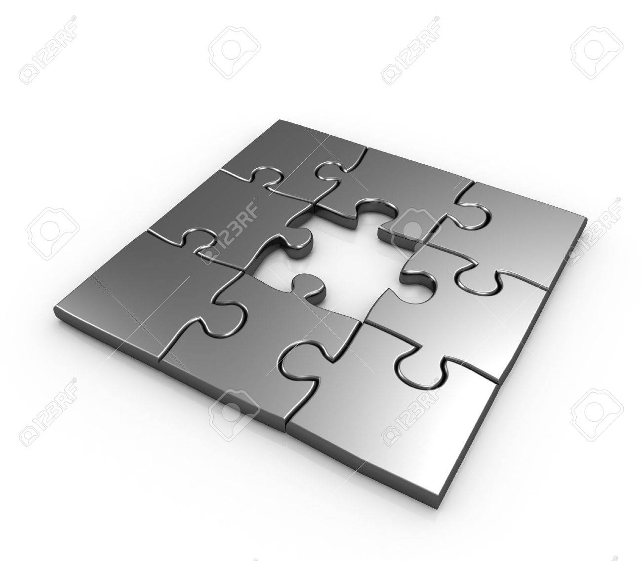 Missing piece puzzle isolated 3d illustration Stock Photo - 8637061