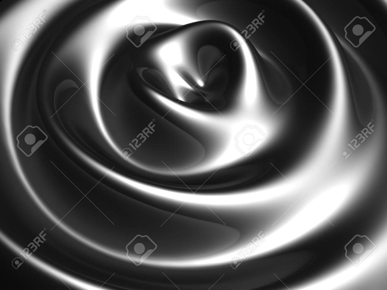 Silver ripple wave background 3d illustration Stock Illustration - 9587511