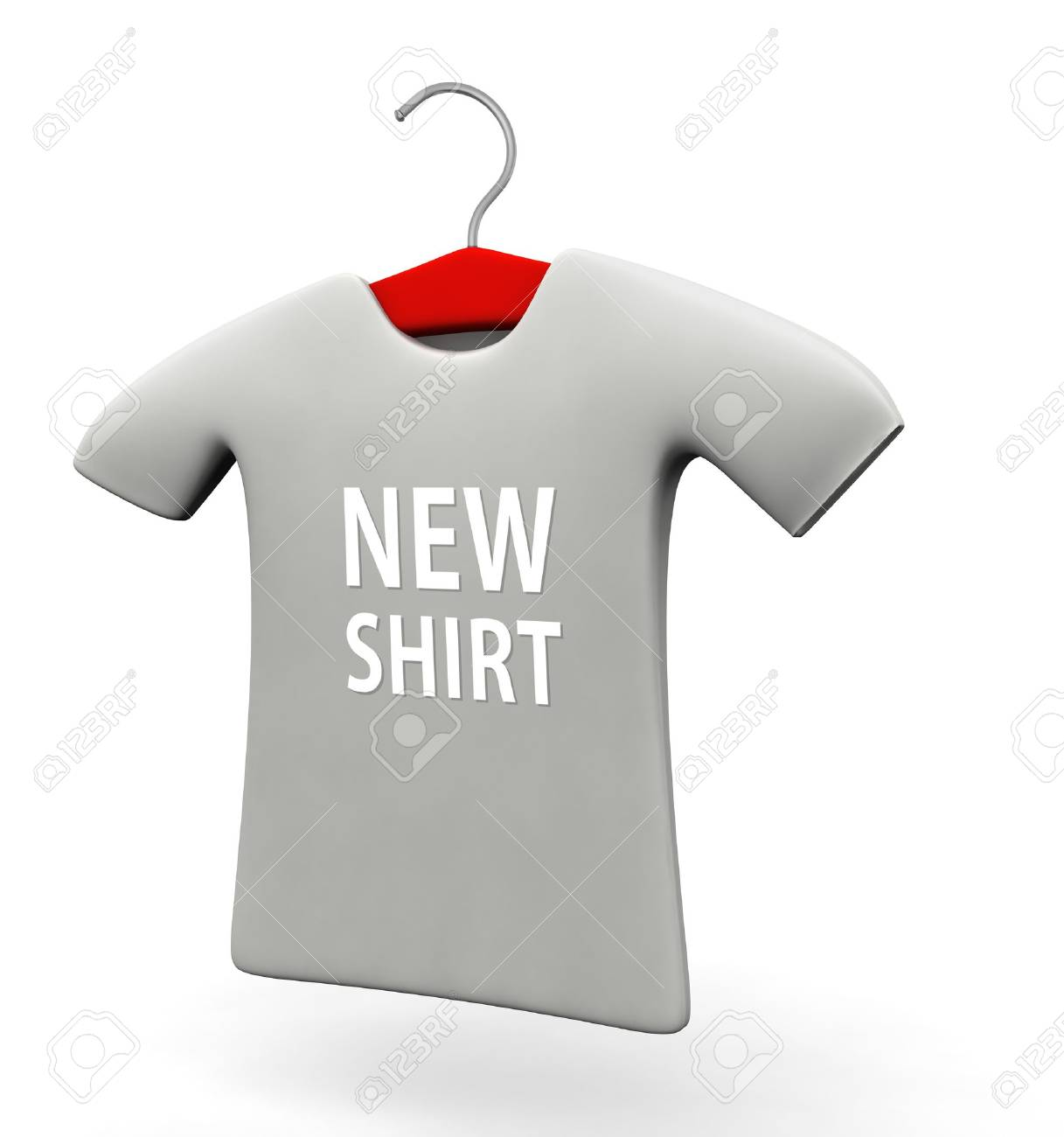 New arrival t-shirt concept 3d illustration isolated white background Stock Photo - 21915413