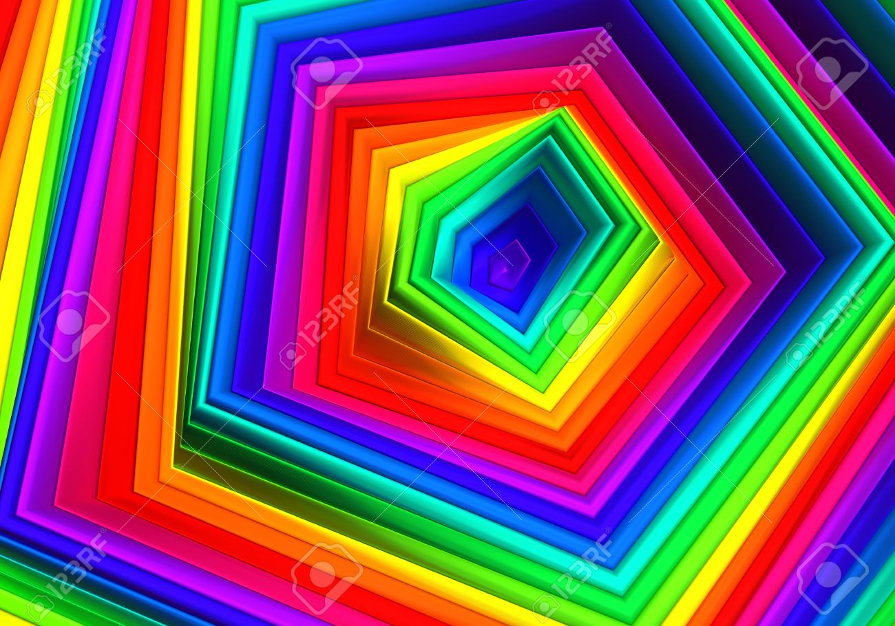 Multicolor abctract diamond shape background 3d illustration Stock Photo - 22027675