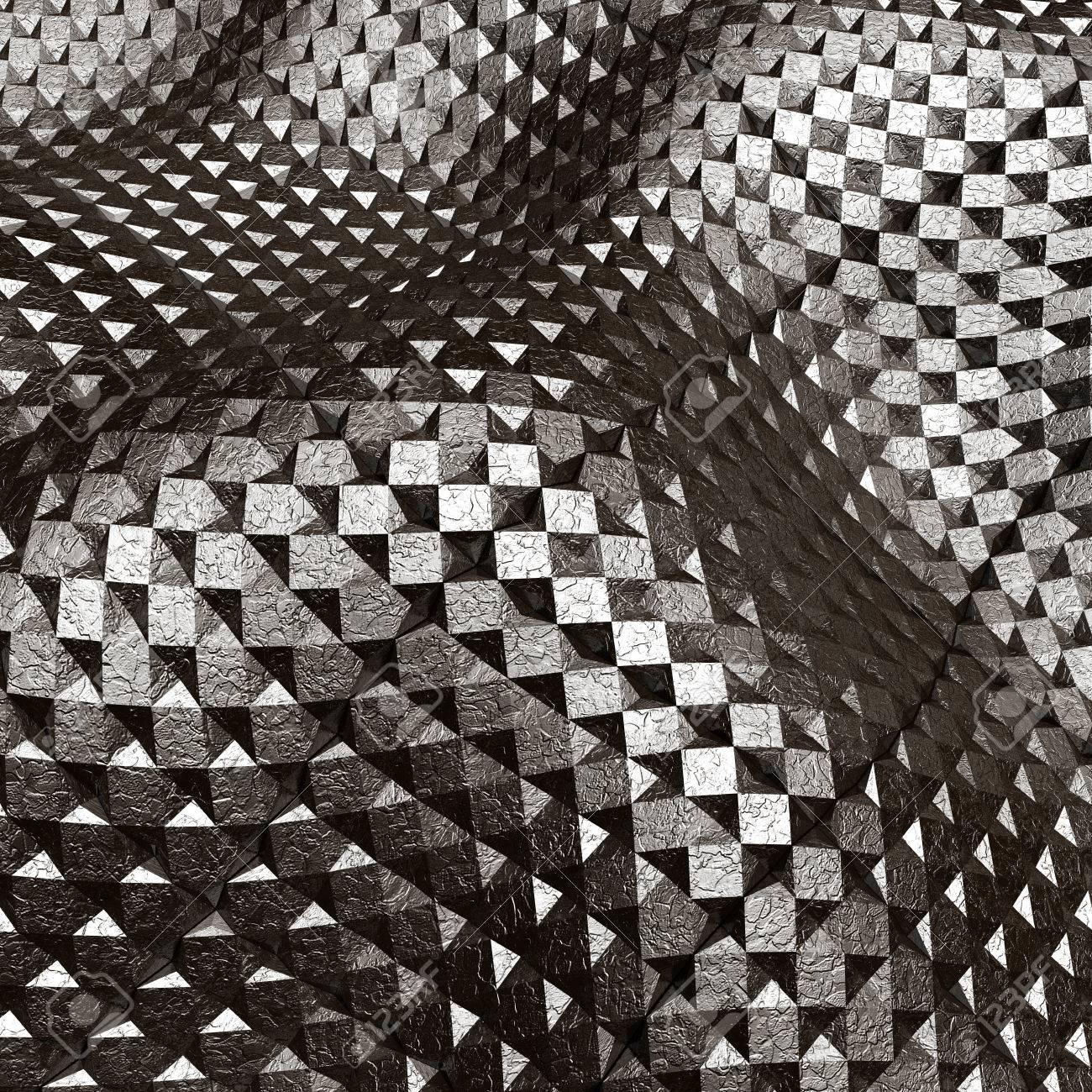 Abstract metal art background 3d illustration Stock Illustration - 28064793
