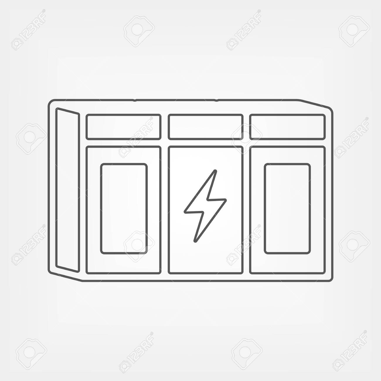 Large Rechargeable Li Ion Battery Outline Icon Energy Storage Royalty Free Cliparts Vectors And Stock Illustration Image 149436084