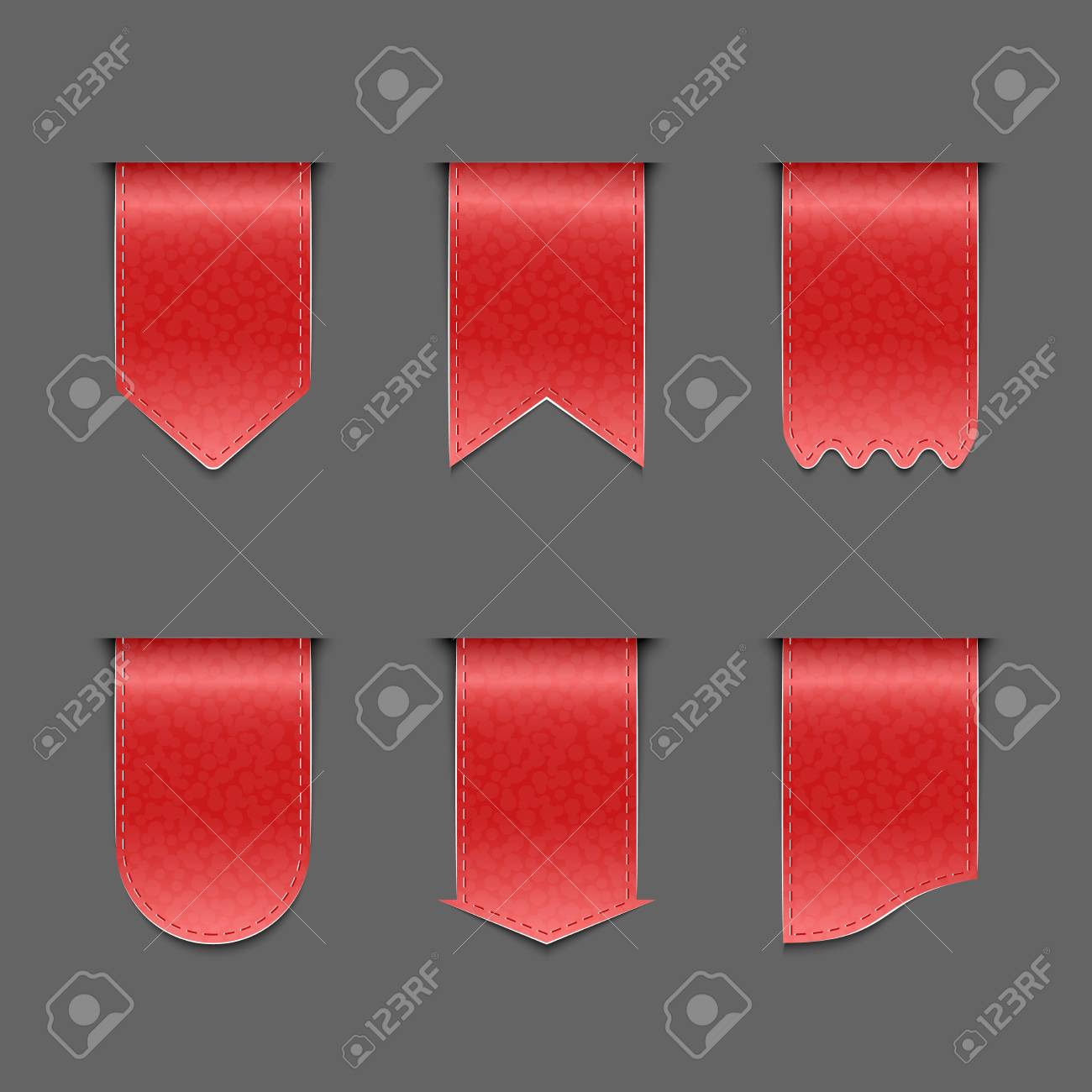 Collection of red ribbons Stock Vector - 19506722