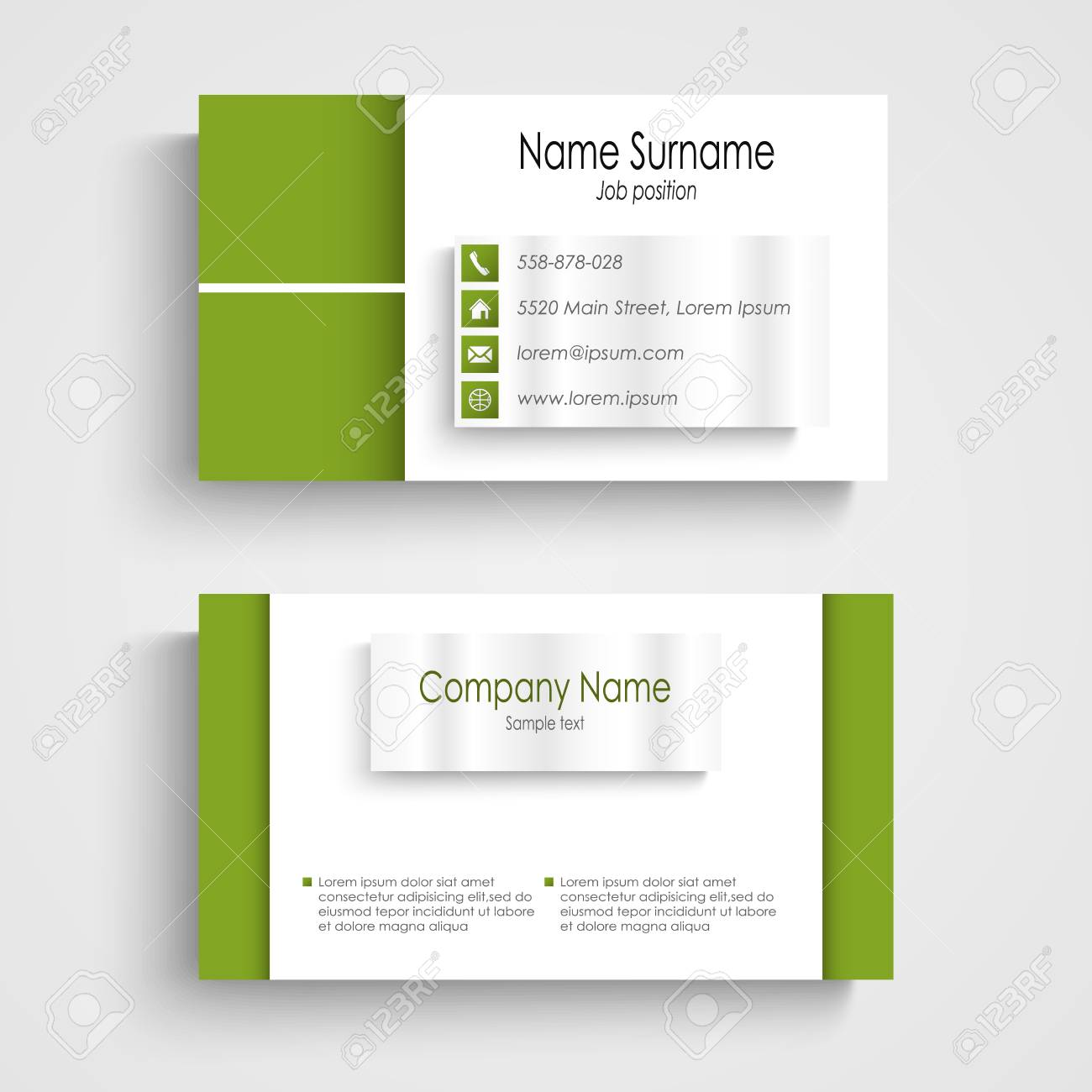 Modern green light business card template vector eps 10 royalty free modern green light business card template vector eps 10 stock vector 25298703 flashek