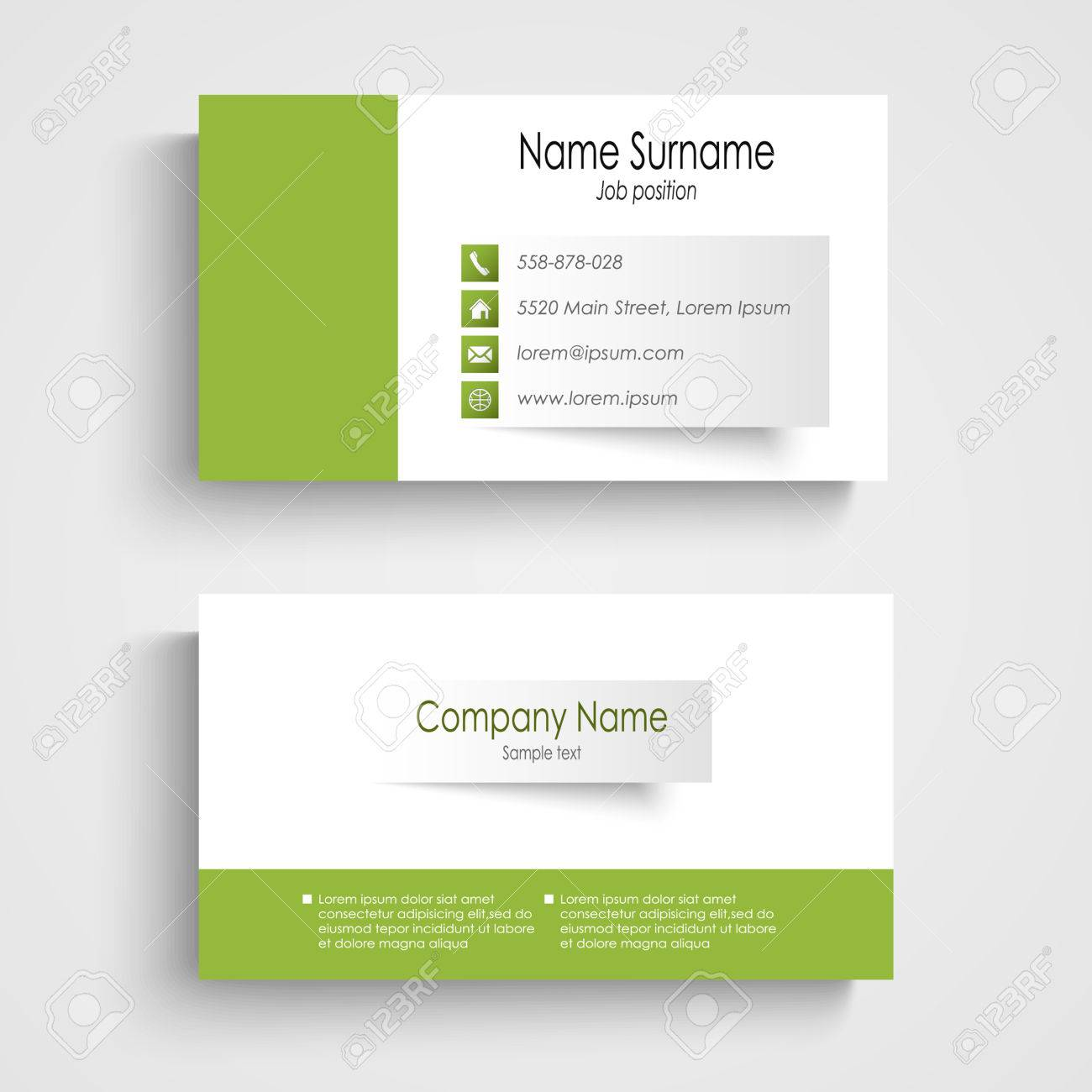 Modern green business card template vector eps 10 royalty free modern green business card template vector eps 10 stock vector 28111554 accmission Gallery