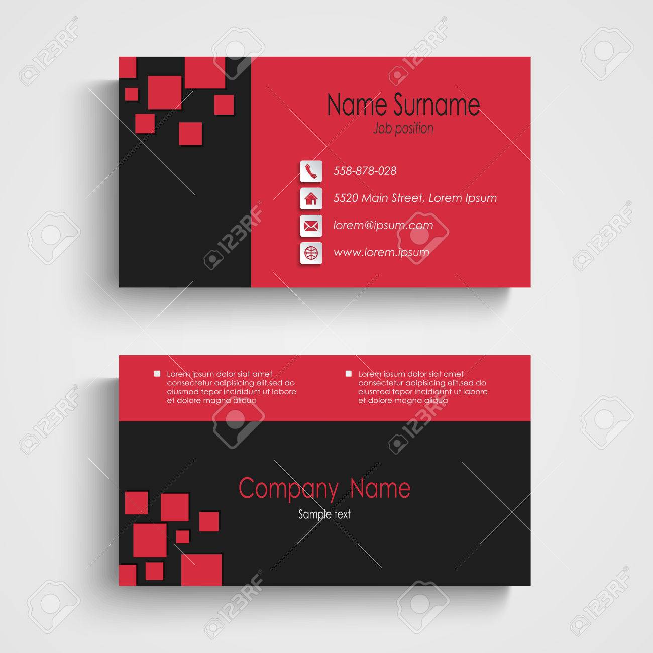 Modern sample business card template royalty free cliparts vectors modern sample business card template stock vector 29261489 reheart Image collections