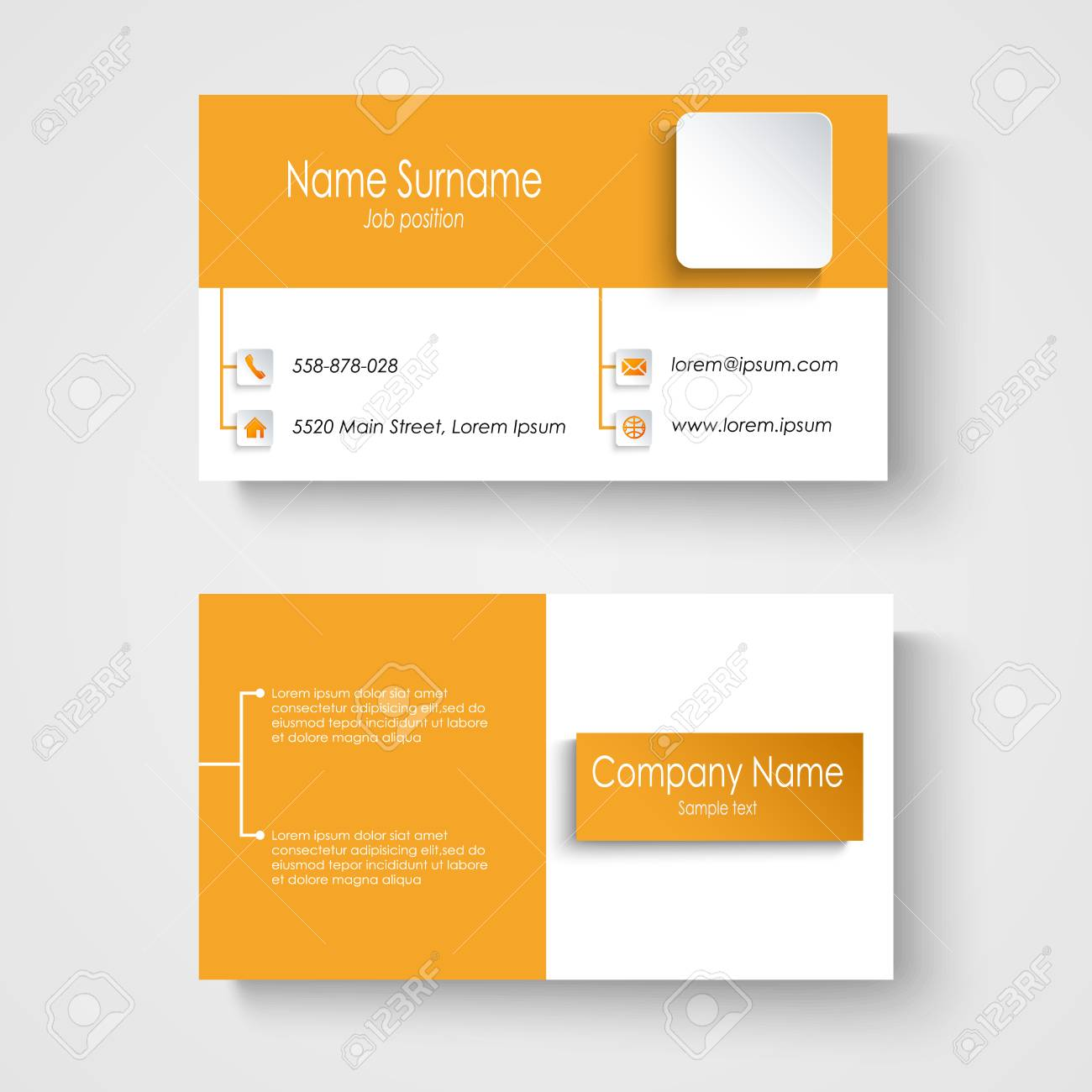 Modern sample orange business card template vector eps 10 royalty modern sample orange business card template vector eps 10 stock vector 29903948 flashek