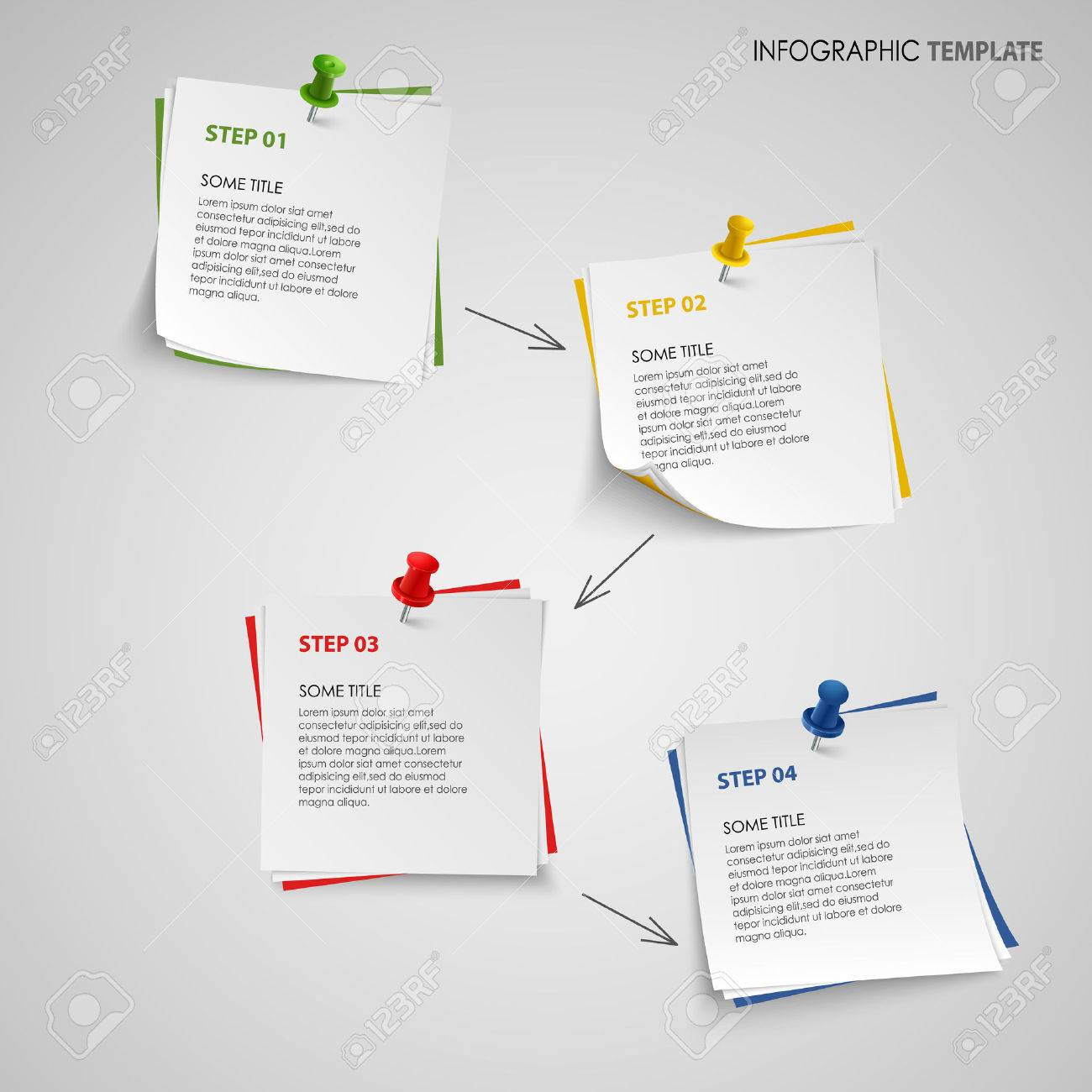 Info Graphic With Note Paper Template Vector Eps 10 Stock Vector   40380567  Note Paper Template