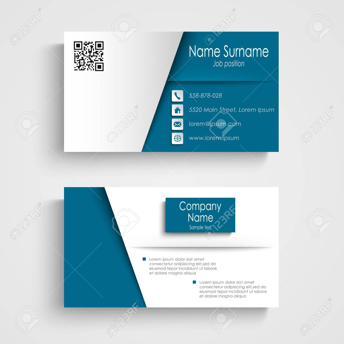 Business card with blue white effect design template vector eps business card with blue white effect design template vector eps 10 stock vector 60675110 flashek Gallery