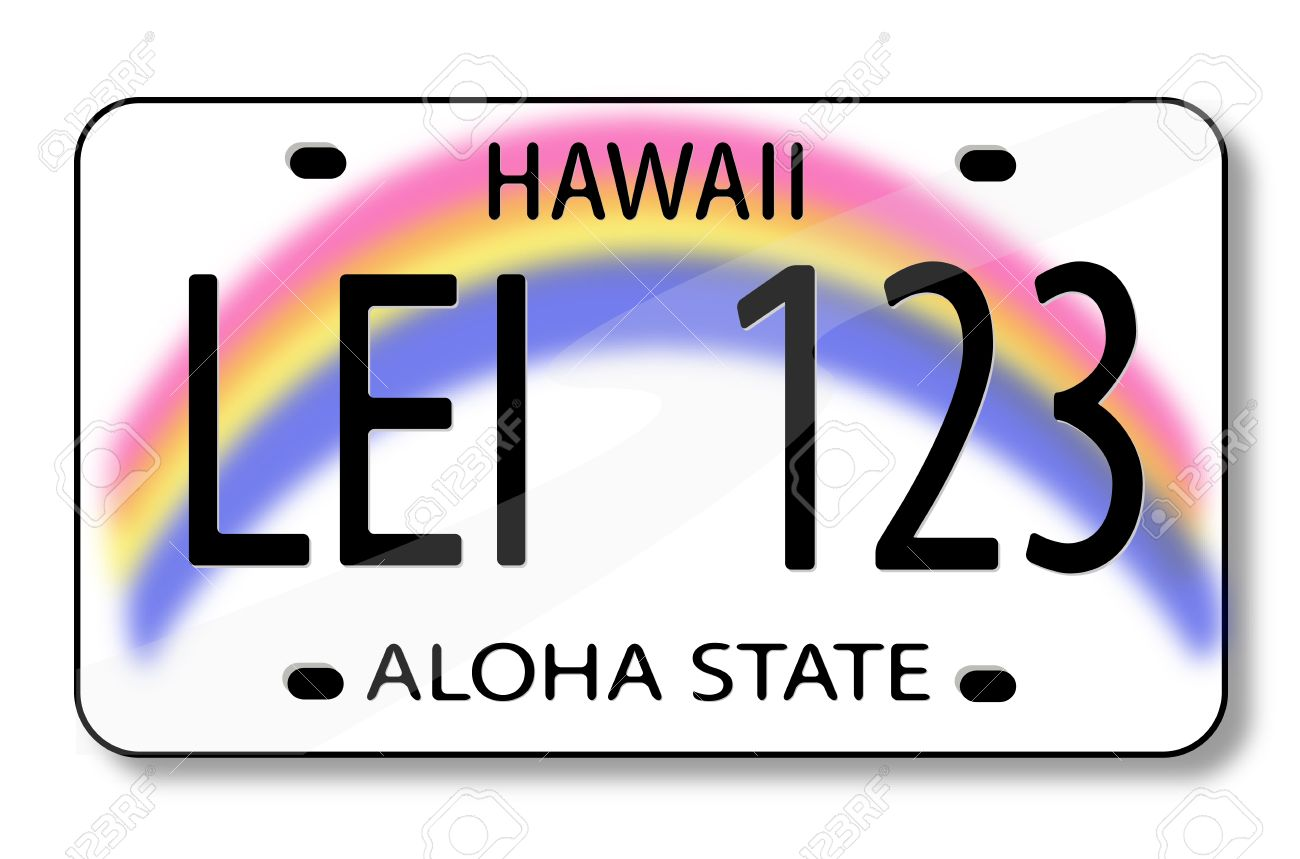 Vector illustration of a license plate from Hawaii. Stock Vector - 5369622