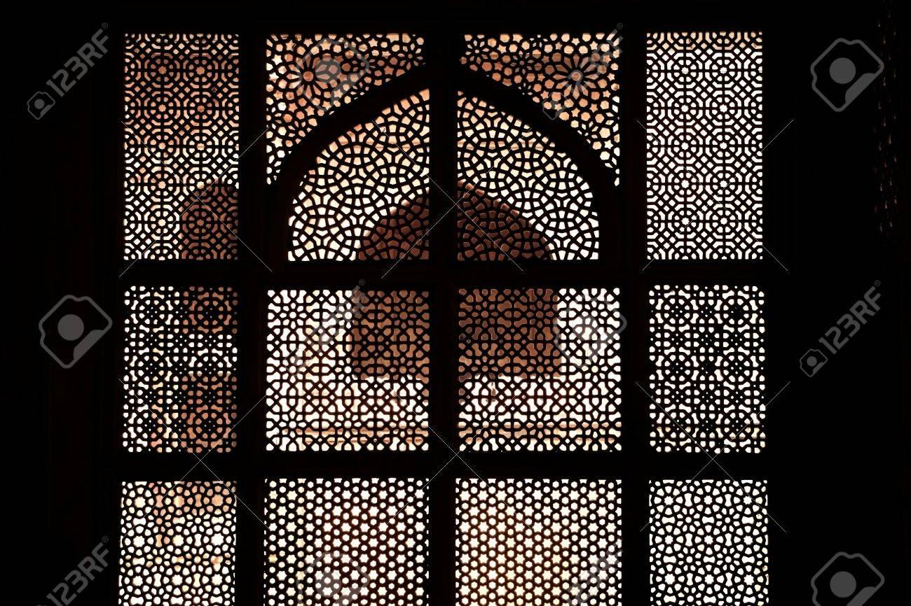 Marble tomb of shaikh Salim Chishti, completed in 1581 Stock Photo - 13320632
