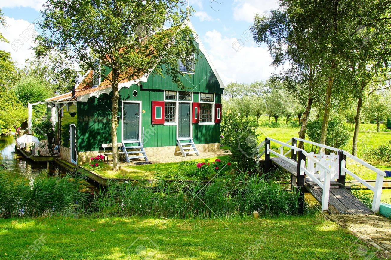 Picturesque rural landscape with typical Dutch houses. Stock Photo - 14963490