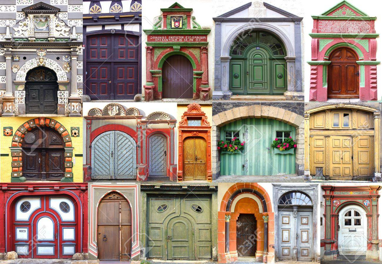 Collage of the ancient unique doors Germany Stock Photo - 15670912 & Collage Of The Ancient Unique Doors Germany Stock Photo Picture ... pezcame.com