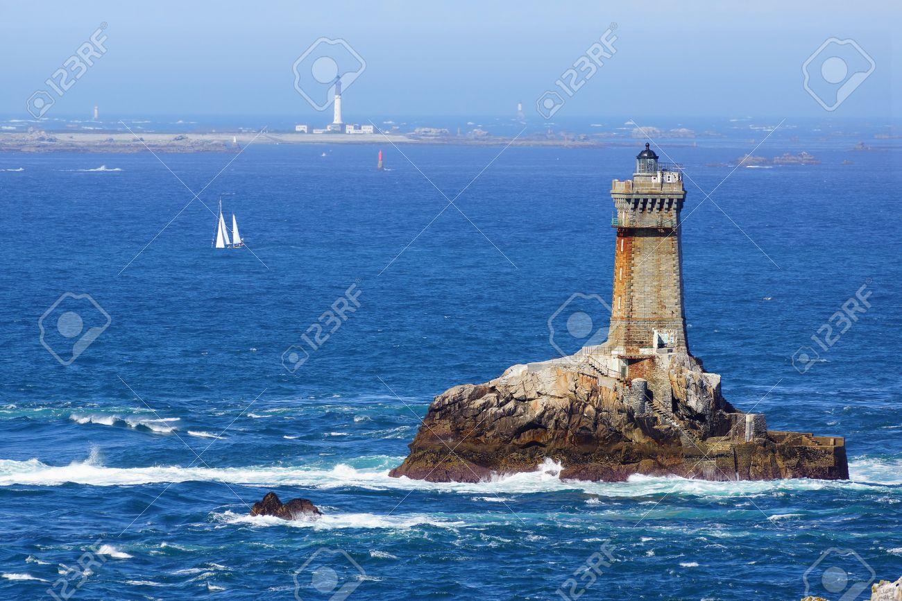 Lighthouse on Cape Sizun, Pointe du Raz  Brittany, France Stock Photo - 16146176