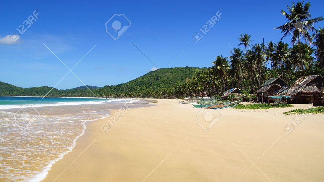 village at Nacpan Beach  Beach