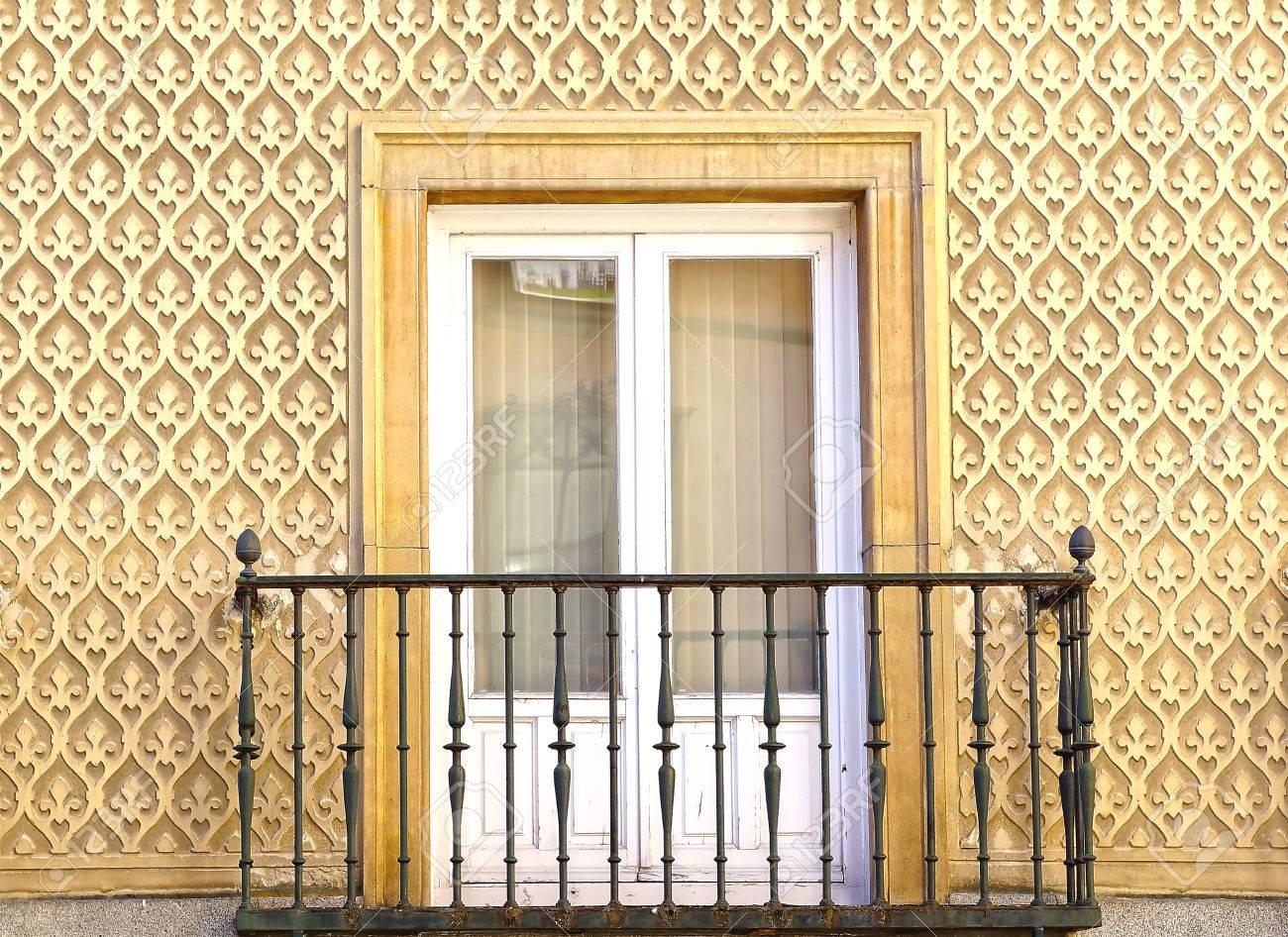 Moorish Floral Wall Decoration In Segovia, Spain Stock Photo ...