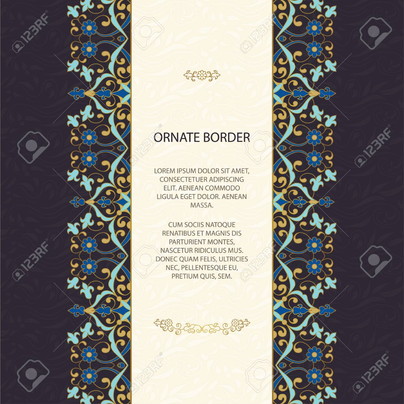Vintage Islamic Style Brochure. Elegant Element For Design Template ...