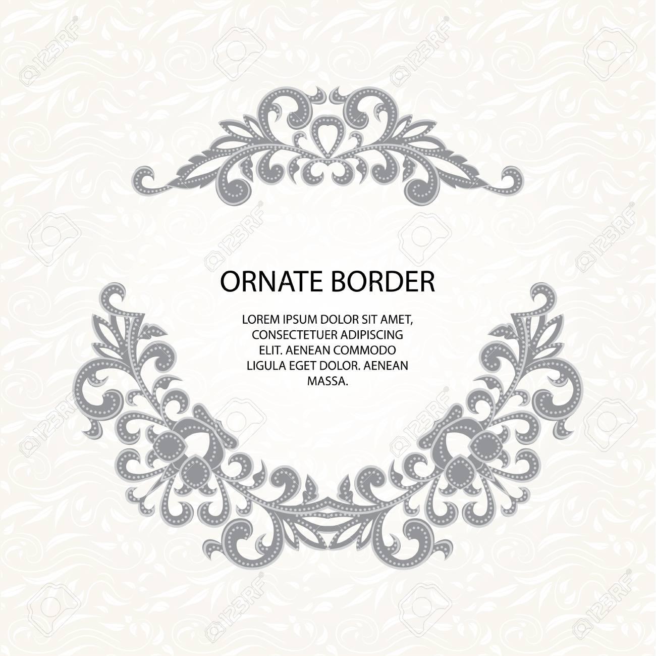 Bordes Decorativos Y Patrón Clásico Página De Diseño Gráfico Invitación De Boda Plantilla Para Tarjetas De Felicitación Invitaciones Menús