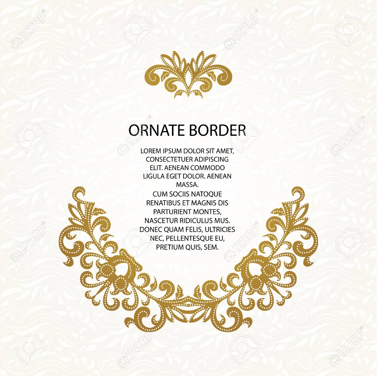 Decorative Borders And Seamless Classic Pattern Graphic Design
